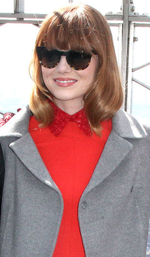 Emma Stone wearing Oliver Peoples