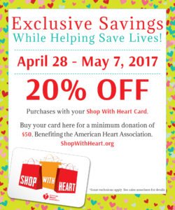 Shop With Heart Card 20% Off