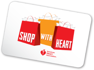 Shop with Heart Card available at Eye Elegance