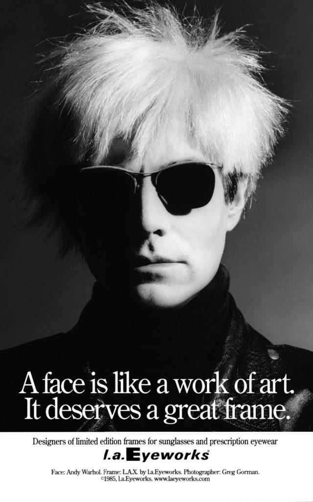 Vintage Andy Warhol in l.a. eyeworks