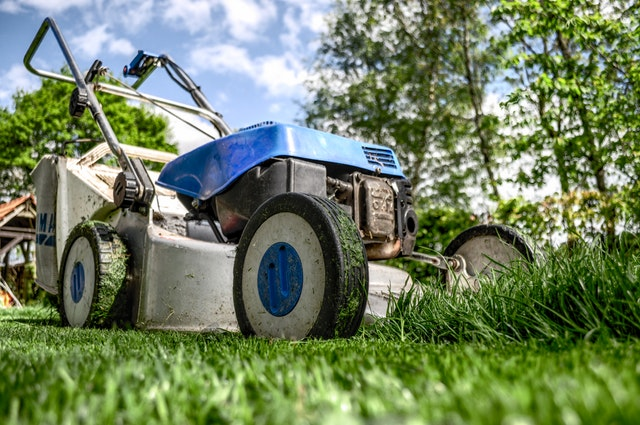 Lawn care requires eye safety