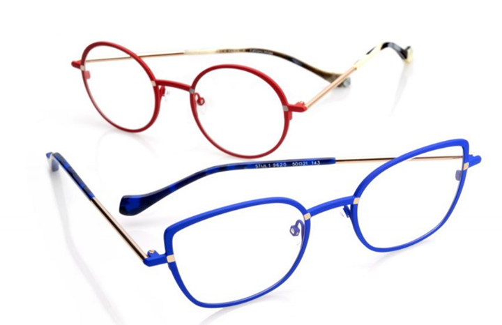 Face a Face Stijl Red and Blue Frames