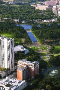 Herman Park Aerial View