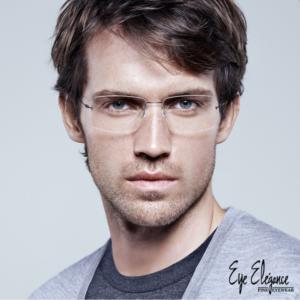 Men's Rimless Eyewear by Lindberg