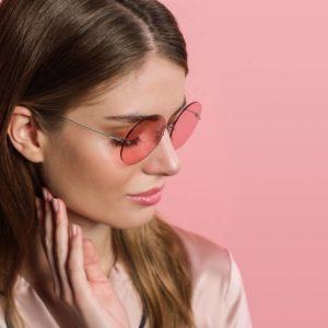 Lindberg Women's Eyewear Pink Lenses Rose Sunglasses
